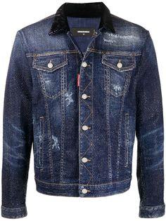 Dsquared2 джинсовая куртка с кристаллами