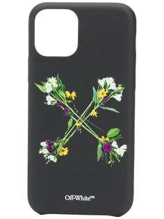 Off-White чехол для iPhone 11 Pro с цветочным принтом
