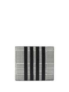 Thom Browne клетчатый бумажник с полосками 4-Bar