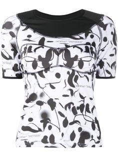 Off-White футболка с абстрактным принтом
