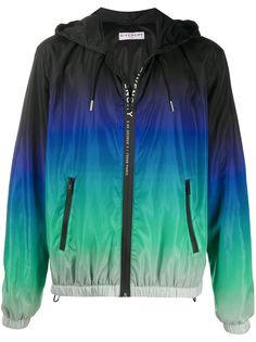 Givenchy куртка в стиле колор-блок с капюшоном