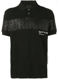 Philipp Plein рубашка-поло с логотипом и эффектом металлик