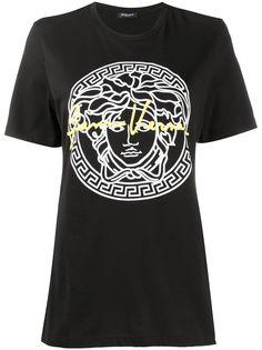Versace футболка с принтом Medusa