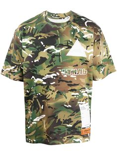 Heron Preston камуфляжная футболка с принтом Стиль
