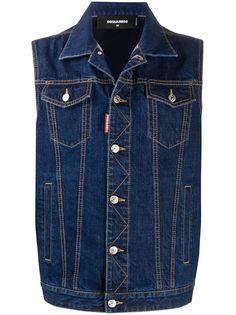 Dsquared2 джинсовая куртка без рукавов