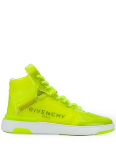 Givenchy высокие кроссовки Wing Transparent