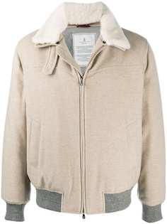 Brunello Cucinelli кашемировая куртка с контрастными вставками