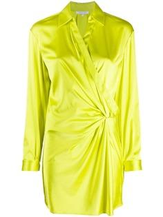 Patrizia Pepe платье-рубашка с драпировкой