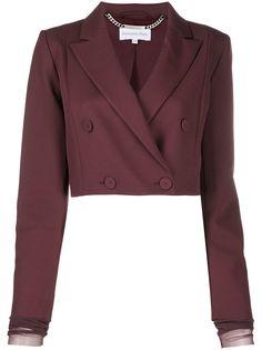 Patrizia Pepe укороченный двубортный пиджак
