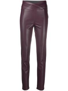 Patrizia Pepe брюки из искусственной кожи с завышенной талией