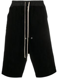 Rick Owens шорты с кулиской и низким шаговым швом