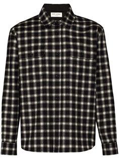 Saint Laurent клетчатая рубашка