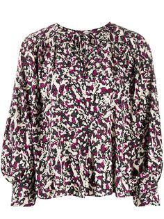 Isabel Marant блузка с завязками и принтом