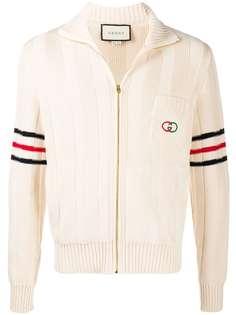 Gucci кардиган на молнии с логотипом Interlocking G