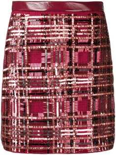 Elisabetta Franchi юбка с декором из пайеток