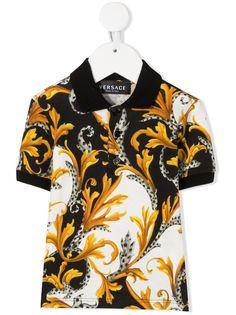 Young Versace рубашка поло с принтом Acanthus