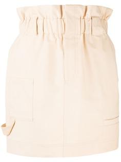 Fendi юбка мини прямого кроя с присборенной талией
