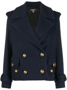 Balmain двубортный пиджак в стиле милитари
