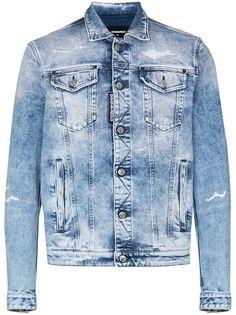 Dsquared2 джинсовая куртка с эффектом потертости