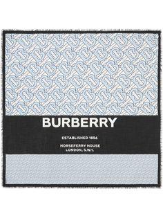 Burberry большой платок с монограммой
