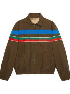 Gucci куртка на молнии с логотипом