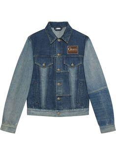 Gucci джинсовая куртка в технике пэчворк