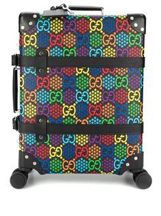 Gucci чемодан Globe-Trotter среднего размера с узором GG