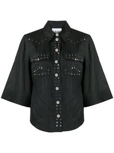 GANNI рубашка с заклепками