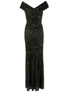 Dolce & Gabbana длинное платье с пайетками