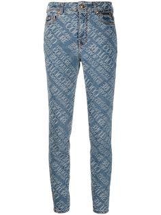 Versace Jeans Couture жаккардовые джинсы скинни с логотипом