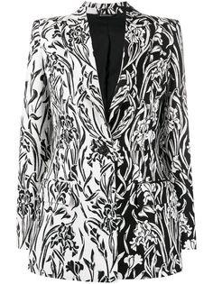 Givenchy однобортный блейзер с цветочным узором