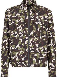 Fendi куртка с камуфляжным принтом Bag Bugs