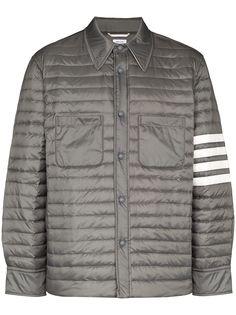 Thom Browne стеганая куртка-рубашка с полосками 4-Bar