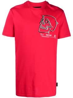 Philipp Plein футболка с принтом Outline Skull