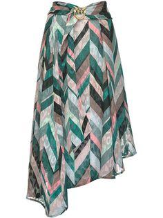 Pinko юбка в полоску с эффектом потертости
