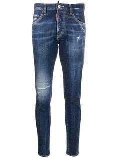 Dsquared2 джинсы скинни со стразами