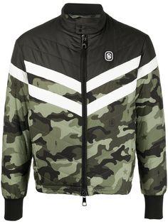 Neil Barrett камуфляжная куртка с логотипом