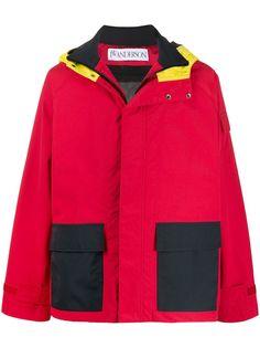 JW Anderson куртка в стиле колор-блок с капюшоном
