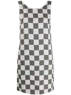 Emporio Armani платье-трапеция в клетку без рукавов