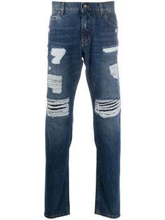 Dolce & Gabbana прямые джинсы с эффектом потертости