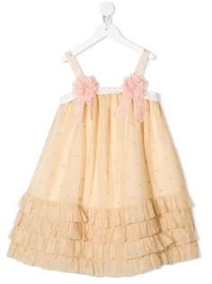 Gucci Kids платье из тюля с оборками