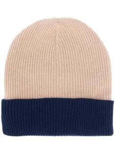 Brunello Cucinelli двухцветная шапка бини