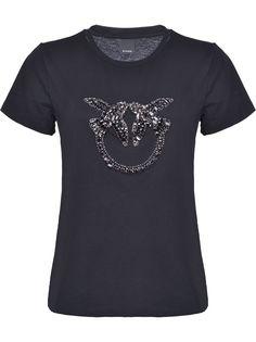 Pinko декорированная футболка с круглым вырезом