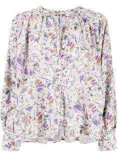 Isabel Marant блузка с абстрактным принтом