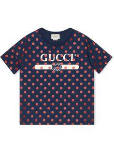 Gucci Kids футболка в горох