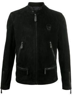 Philipp Plein байкерская куртка с декором Skull