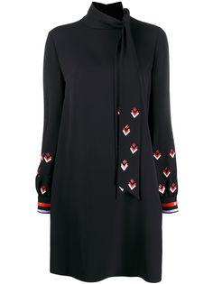 Valentino платье с длинным рукавами и пайетками