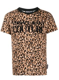 Versace Jeans Couture футболка с круглым вырезом и леопардовым принтом