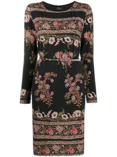 Etro трикотажное платье с цветочным узором