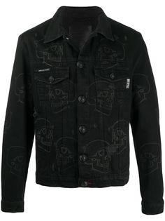 Philipp Plein джинсовая куртка с принтом